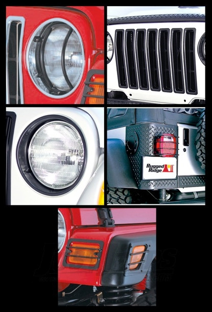 Just Jeeps Rugged Ridge 15 Piece Euro Light Guard Kit In