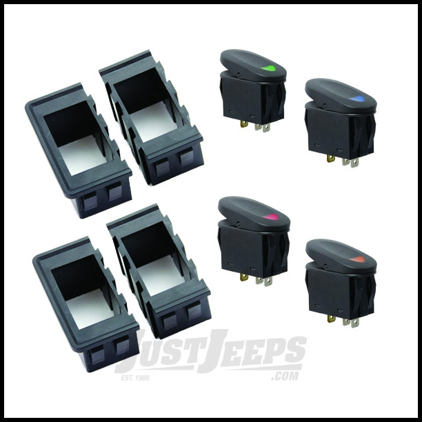 Rugged Ridge Rocker Switch Housing Kit With Switches