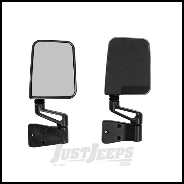 Just Jeeps Buy Rugged Ridge Side Mirror Kit In Black For