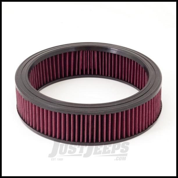 Just Jeeps Buy Rugged Ridge Synthetic Round Air Filter For