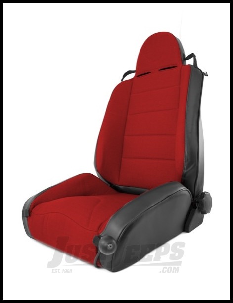 Rugged Ridge XHD Off Road Seat In Red Cloth & Black Vinyl For 1997-06 Jeep Wrangler TJ & TJ Unlimited Models 13416.53