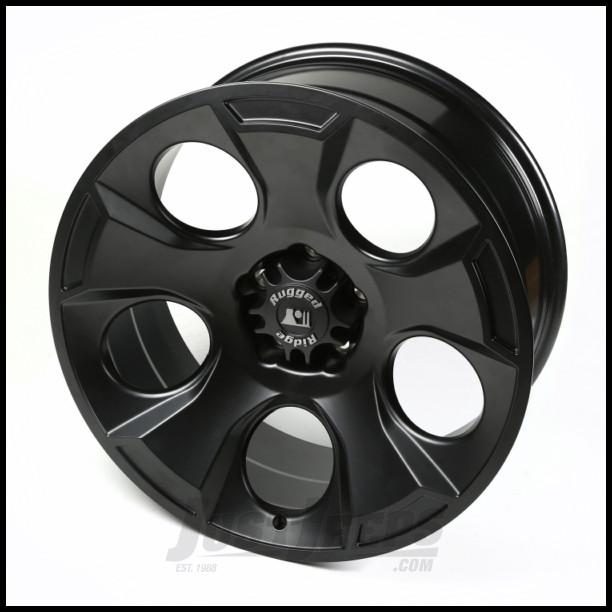 Rugged Ridge 20x9 Drakon Wheel (Black Satin) For 2007-18+ Jeep Wrangler JK/JL 2 Door & Unlimited 4 Door Models 15304.01