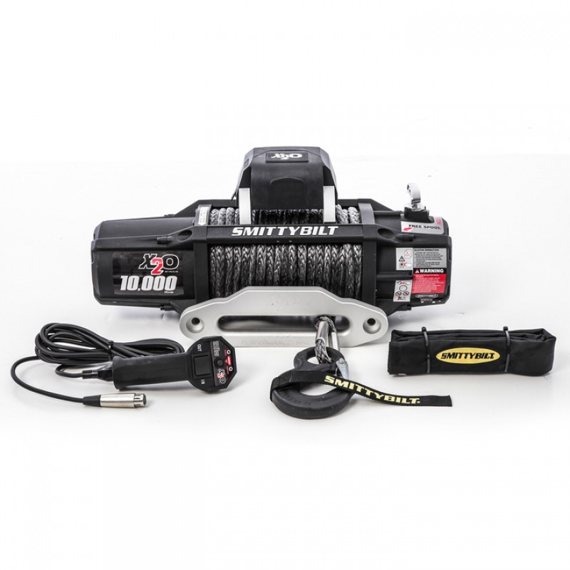 SmittyBilt X2O-10 Gen2 Competition Series Waterproof Winch With Synthetic Line & Hawse Fairlead Rated For 10,000lbs. 98510