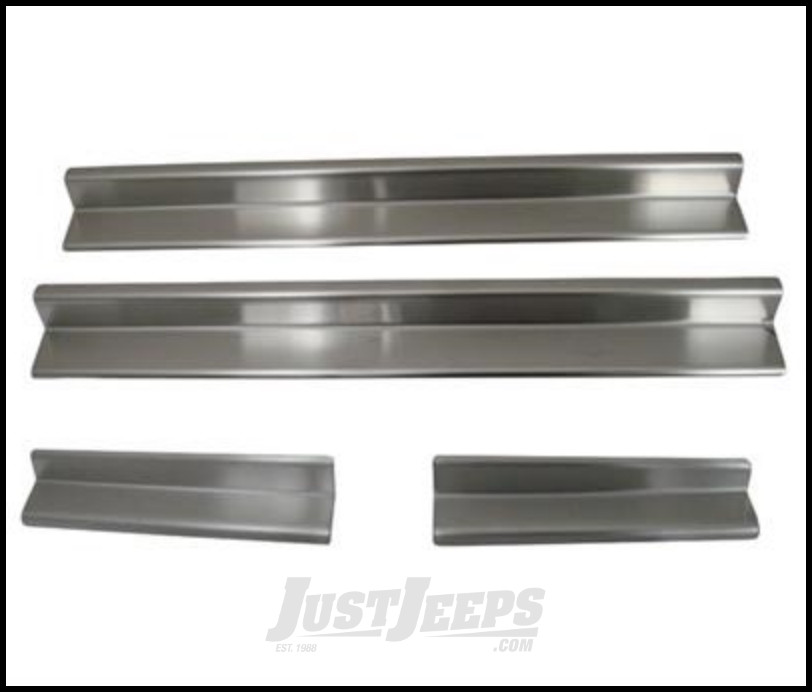 SmittyBilt Entry Guards In Stainless Steel For 2007+ Jeep Wrangler JK & JK Unlimited Models 7488