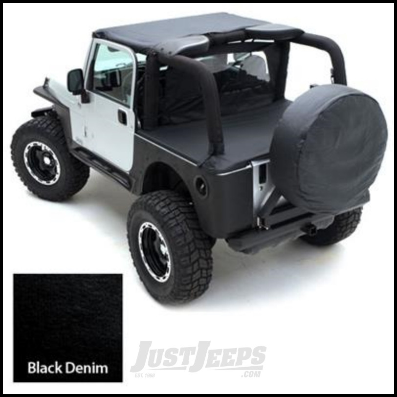 Smittybilt Tonneau Cover For Use Without Factory Soft Top Bow In Black  Denim For 1997 06 Jeep Wrangler TJ