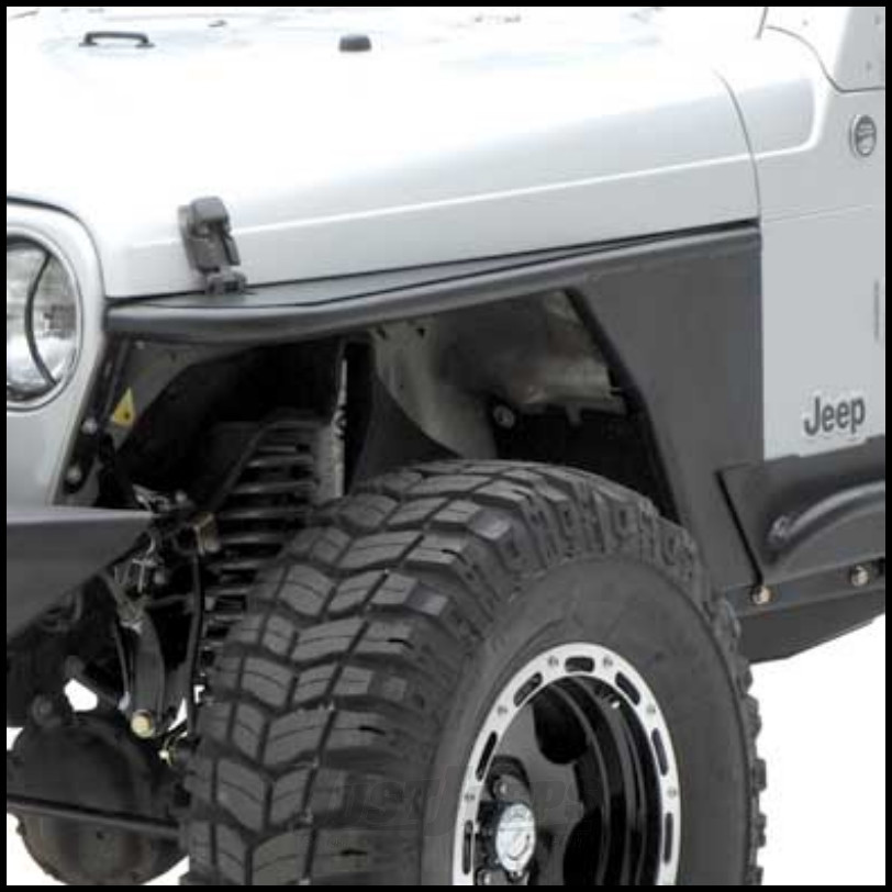 SmittyBilt XRC Tube Fender With Built in Flare In Black Textured For 1976-86 Jeep CJ7 Series