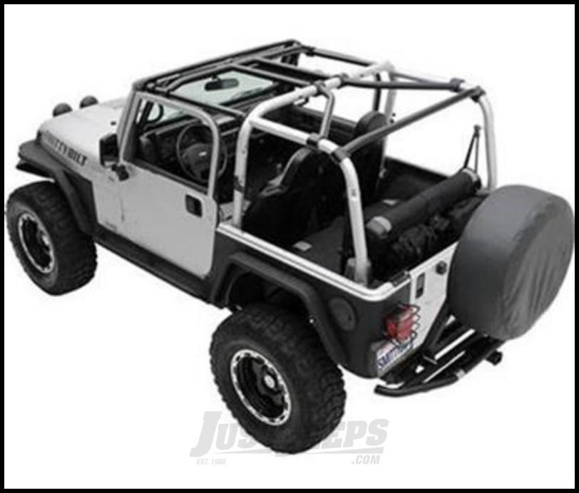 SmittyBilt SRC Cage Kit 7 Piece In Gloss Black  For 1997-06 Jeep Wrangler TJ Models 76900