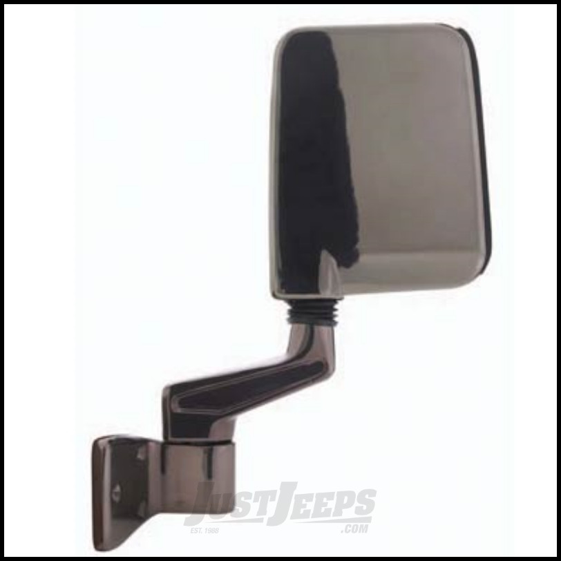 SmittyBilt Half Door Side Mirror In Black For 1987-06 Jeep Wrangler YJ & TJ Models 7694