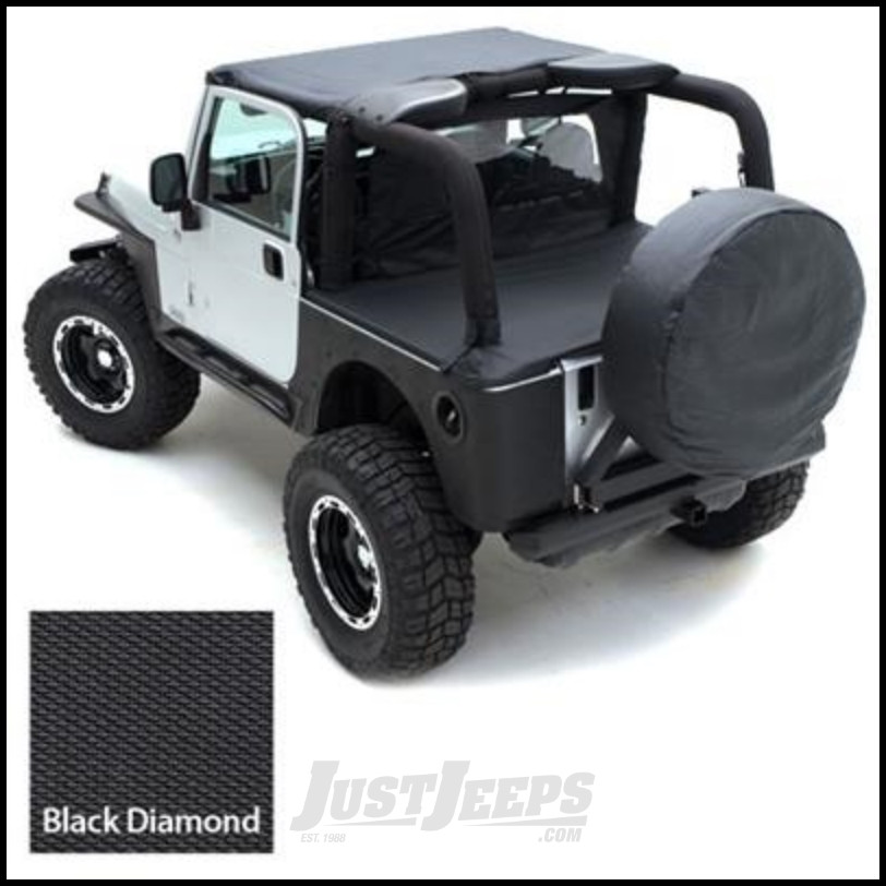 "SmittyBilt Spare Tire Cover For 27""-29"" Tire In Black Diamond 772935"