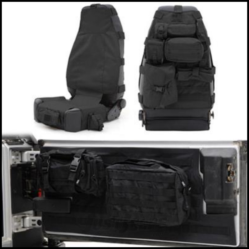 Jeep Wrangler Unlimited Seat Covers >> Just Jeeps SmittyBilt GEAR Front Seat Cover & Tailgate ...