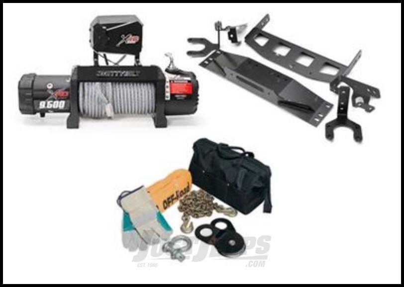SmittyBilt XRC 9.5 Gen2 Winch PAK For 2007-18 Jeep Wrangler JK 2 Door & Unlimited 4 Door Models GEN2WINPAK1