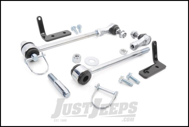 "Rough Country Front Sway Bar Quick Disconnects For 2007-18 Jeep Wrangler JK 2 Door & Unlimited 4 Door With 2½"" Lift 1029"