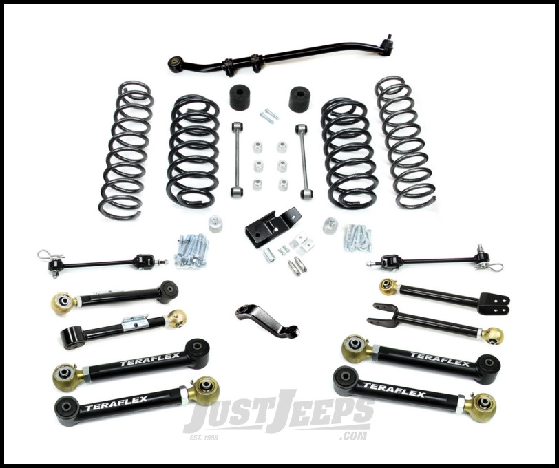 "TeraFlex 4"" Premium Suspension System Without Shocks For 1997-06 Jeep Wrangler TJ & Unlimited 1456450"