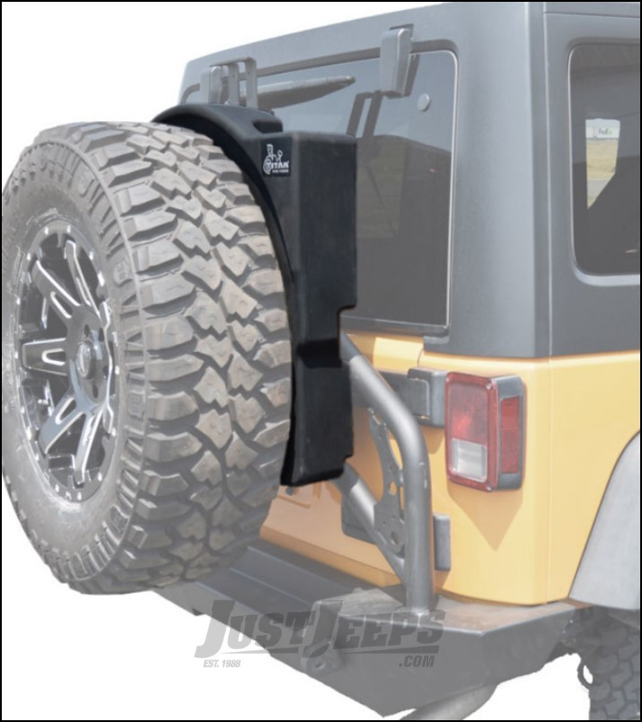 Titan Trail Trecker 12 Gallon Spare Tire Auxiliary Fuel Tank For 1987-18 Jeep Wrangler YJ, TJ, & JK 2 Door & Unlimited 4 Door Models