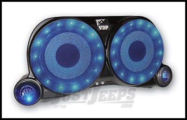 Vertically Driven Products Center Speaker System With Lights & Speakers For 1976-95 Jeep CJ Series & Wrangler YJ