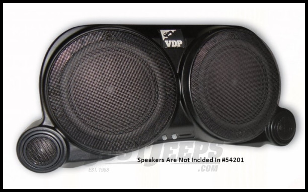 Vertically Driven Products Center Speaker System Without Lights or Speakers For 1976-95 Jeep CJ Series & Wrangler YJ