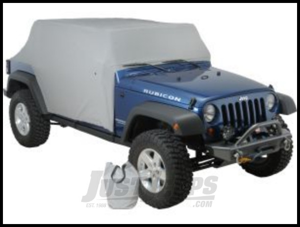 Vertically Driven Products Full Monty Cab Cover With Half Door Ears In Grey For 2007-18 Jeep Wrangler JK Unlimited 4 Door Models