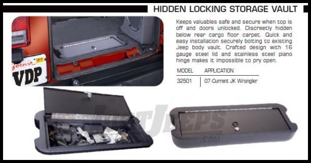 Portapacchi e box da tetto vdp 32501Hidden Storage Vault by Vertically Driven Products
