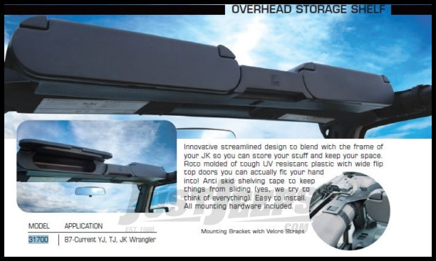 Just Jeeps Vertically Driven Products Overhead Storage