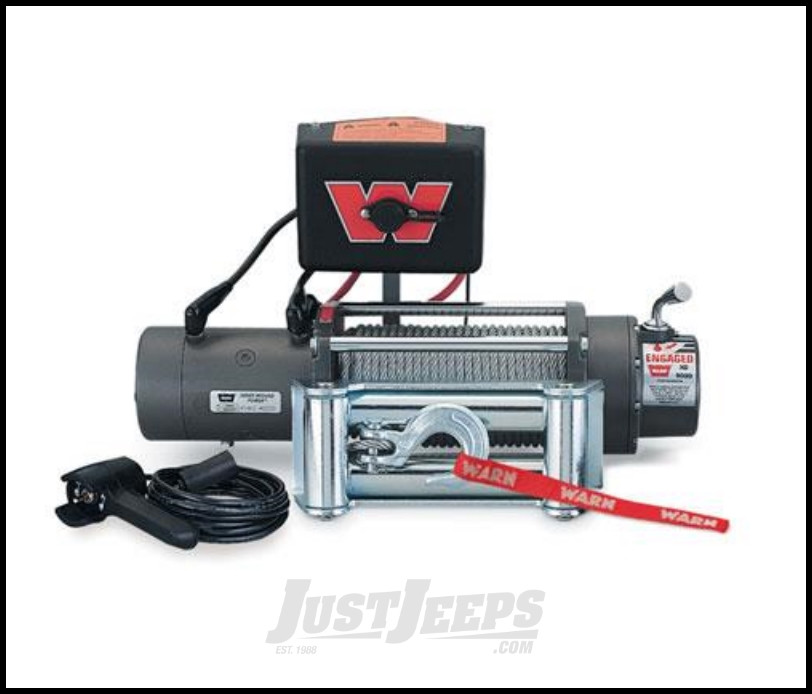WARN XD9000 Winch With 100' Wire Rope & Roller Fairlead 28500