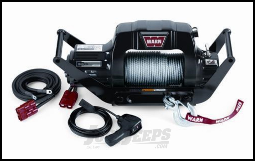 WARN 9.5cti Multi-Mount Self-Recovery Winch (12V DC) 125' Wire Rope and Hawse Fairlead