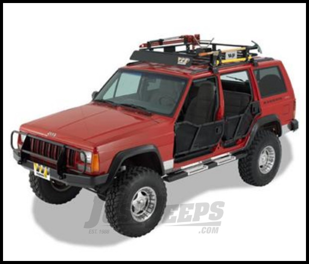 Warrior Products Rock Barz with Step For 1984-01 Jeep Cherokee XJ 7432