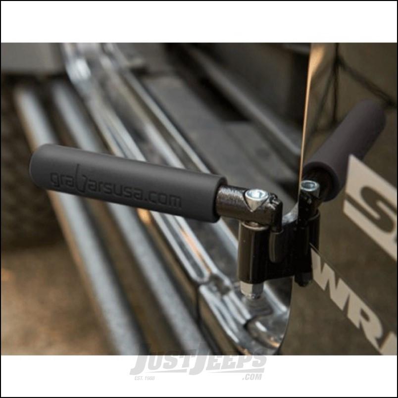 Welcome Distributing GraBar BootBars (Foot Pegs) Pair In Black Steel with Black Dual Layer Rubber Grips For 2007-18 Jeep Wrangler JK 2 Door & Unlimited 4 Door Models