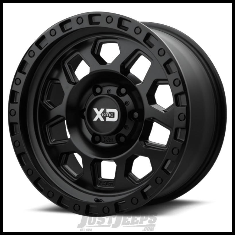 Just Jeeps Kmc Xd132 Satin Black Wheel 17x9 5x5 W 4 50bs