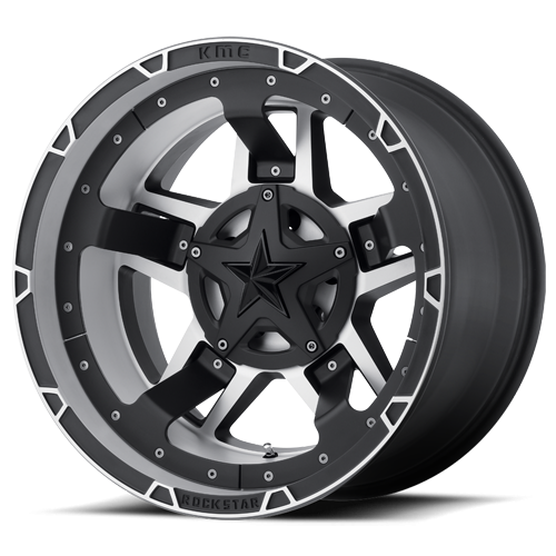 KMC XD827 Rockstar RS3 Machined Face with Black Accents 17x9 5X4.50/5X5 w/4.53BS XD82779054512N