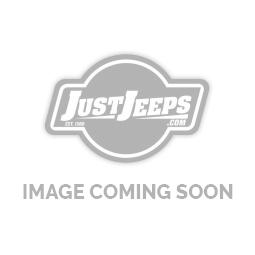 Rampage Hood Footman Loop And Winshield Stops Black Powder Coat Over Polished Stainless For 1997+ TJ & JK 87611