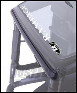 Rampage Windshield Channel Black For 1976-95 Jeep CJ Series & Wrangler YJ 901001