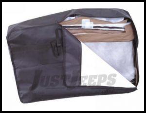 Rampage Hard Door Storage Bag In Black For 1976-06 Jeep CJ Series, Wrangler YJ & TJ 595202