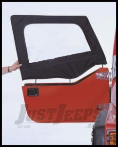 Rampage Door Skins Pair (For Soft Upper Half Doors) Black Denim For 1997-02 Jeep Wrangler TJ (Pair) 89715