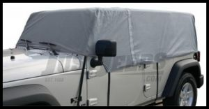 Rampage 4 Layer Cab Cover in Grey For 2007-18 Jeep Wrangler JK Unlimited 4 Door 1264