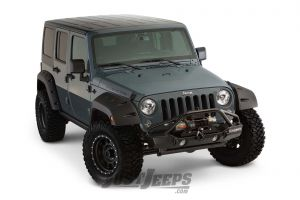 "Bushwacker 9.5"" Width Pocket Style Fender Flares For 2007-18 Jeep Wrangler JK Unlimited 4 Door Models"