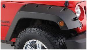 Bushwacker Front Pocket Style Fender Flares For 2007-18 Jeep Wrangler JK 2 Door & Unlimited 4 Door Models