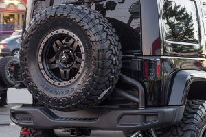 AEV JK Rear Tire Carrier Moab / COD For 2012-13 Jeep Wrangler JK 2 Door & Unlimited 4 Door Call of Duty MW3 & Moab Editions 10305025AA