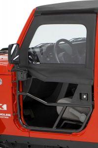 BESTOP HighRock 4X4 Element Front Upper Doors For 2007-18 Jeep Wrangler JK 2 Door & Unlimited 4 Door Models (Black Diamond) 51805-35