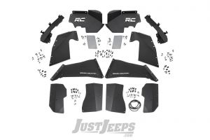 Rough Country Front & Rear Inner Fender Liner Set For 2007-18 Jeep Wrangler JK 2 Door & Unlimited 4 Door Models 10511