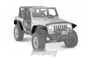 Bushwacker Flat Style Fender Flares For 2007-18 Jeep Wrangler JK 2 Door Models