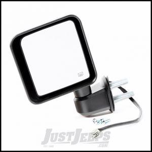 Omix-ADA Black Power Heated Driver Side Mirror For 2014 Jeep Wrangler JK 2 Door & Unlimited 4 Door Models 11002.26