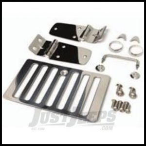 Rugged Ridge Hood Kit Stainless steel For 1998-06 Jeep Wrangler TJ & TJ Unlimited Models 11101.03