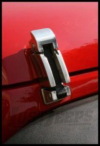 Rugged Ridge Stainless Steel Hood Catch Set For 2007-11 Jeep Wrangler JK 2 Door & Unlimited 4 Door Models 11116.06