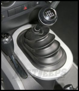 Rugged Ridge Manual Shift Bezel in Brushed Silver 2007-10 JK Wrangler, Rubicon and Unlimited 11151.01
