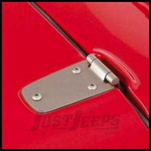 Rugged Ridge Hood Hinges Satin For 1998-06 TJ Wrangler, Rubicon and Unlimited 11185.32