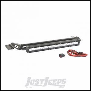 "Rugged Ridge Hood Mounted Light Bar Kit With 20"" LED Light Bar & Wiring Kit For 1997-06 Jeep Wrangler TJ & TJ Unlimited Models 11232.16"