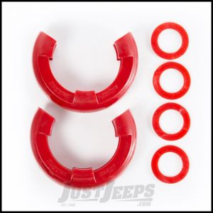 "Rugged Ridge Red D-Ring Isolators For 7/8"" Rings & Includes 2 Rubber Isolators & 4 Washers 11235.41"