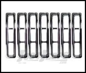 Rugged Ridge Grille Inserts Chrome For 1997-06 TJ Wrangler, Rubicon and Unlimited 11306.02