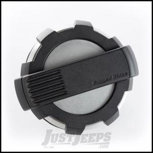 Rugged Ridge Elite Non-Locking (Brushed Aluminum) Fuel Door For 2007-18 Jeep Wrangler JK 2 Door & Unlimited 4 Door Models 11425.10