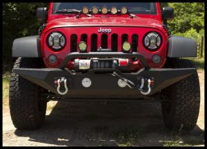 Rugged Ridge Spartan Front Bumper, Standard Ends, With Overrider For For 2007-18 Jeep Wrangler JK 2 Door & Unlimited 4 Door Models 11548.02